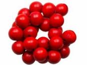 Drevené korálky 10 mm - červené