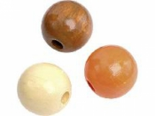 Drevené korálky 10 mm mix - 50 ks - oranžovo - hnedé