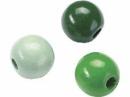 Drevené korálky 12 mm mix - 30 ks - zelené