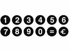 Drevené pečiatky - čísla sada