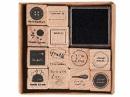 Drevené pečiatky - sada- Handmade