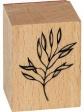 Sada drevených  pečiatok - 15ks - kvety a vetvičky