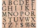 Drevené pečiatky - abeceda sada - 1 cm