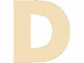 Drevené písmeno - 45 mm - D