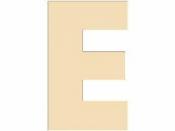 Drevené písmeno - 45 mm - E