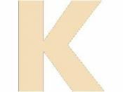 Drevené písmeno - 45 mm - K