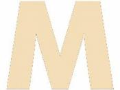Drevené písmeno - 45 mm - M