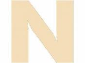 Drevené písmeno - 45 mm - N