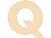 Drevené písmeno - 45 mm - Q