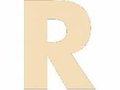 Drevené písmeno - 45 mm - R
