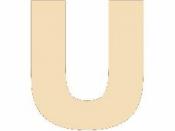 Drevené písmeno - 45 mm - U
