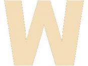Drevené písmeno - 45 mm - W
