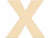 Drevené písmeno - 45 mm - X