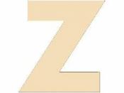 Drevené písmeno - 45 mm - Z