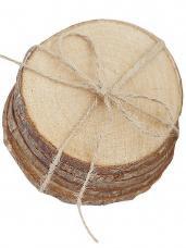 Drevené plátky okrúhle 5-7cm - 5 kusov