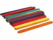 Drevené špachtle farebné 10 mm - 50 ks