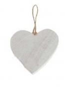 Drevené srdce 25 cm - biele