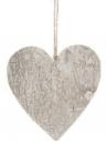 Drevené srdce 15 cm - biele