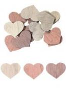 Drevený výrez srdce 3cm - vintage fialové