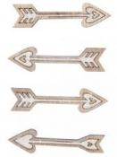 Drevené výrezy Amorove šípky - 9ks
