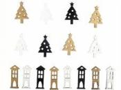Drevené výrezy Vianoce - 16ks