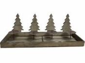 Drevený adventný svietnik 55 cm