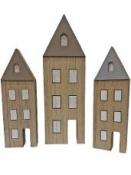 Drevený dekoračný  domček 20cm