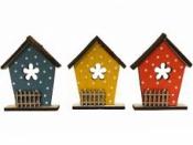 Drevený domček  9 cm - modrý