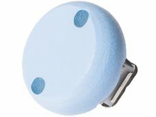 Drevený klip na cumlík 30 mm - pastelový modrý