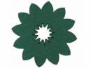 Drevený výrez kvet - 3,5cm - slnečnica