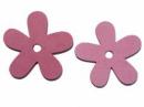 Drevený výrez kvet - 5cm - cyklamenový