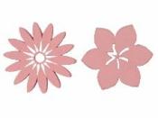 Drevený výrez kvet ibištek 5cm - ružový