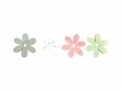 Drevený výrez kvet - 3cm - biely