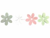 Drevený výrez kvet - 5,5cm - biely