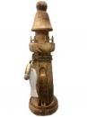 Drevený maják 30 cm - prírodný