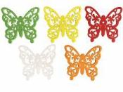 Drevený výrez 5 cm motýľ - biely