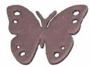 Drevený výrez motýľ - 3,5cm - ružový plyš