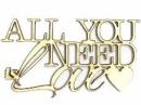 Drevený výrez - nápis - All you need is love