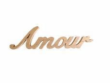 Drevený nápis - Amour