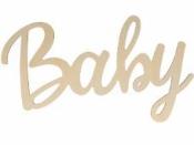 Drevený nápis Baby