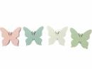 Drevený výrez 3 cm motýľ - biely