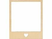 Drevený rámček - polaroid - 10,5 cm