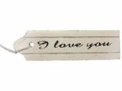 Drevený štítok  I love you 10,5 cm