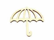 Drevený výrez 4 cm dáždnik