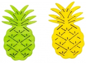 Drevený výrez 4 cm ananás - žltý