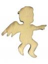 Drevený výrez anjel 5 cm - prírodný