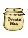 Drevený výrez - Domáci džem - 4 cm