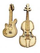 Drevený výrez 3,5 cm - gitara