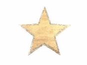 Drevený výrez hviezda s glitrovaným okrajom 4 cm - zlatá