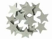 Drevený výrez hviezdička 2cm - biela